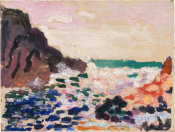 Henri Matisse - Marine (Bord de mer) (Seascape [Beside the Sea]), 1906
