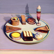 Wayne Thiebaud - Dessert Tray, 1992-1994