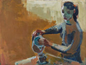 David Park - Woman with Coffee Pot, 1958