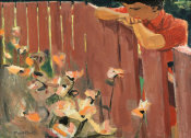 David Park - Untitled (Girl at a Fence), 1953
