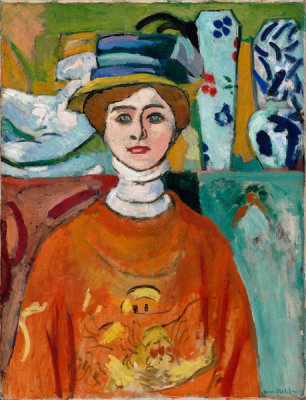 Henri Matisse - La fille aux yeux verts (The Girl with Green Eyes), 1908