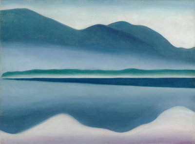 Georgia O'Keeffe - Lake George (formerly Reflection Seascape), 1922