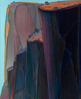 Wayne Thiebaud - Canyon Mountains, 2011-2012