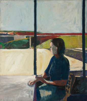 Richard Diebenkorn - Woman in Profile, 1958