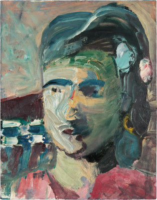 Richard Diebenkorn - Head of a Woman II, 1960