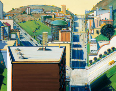 Wayne Thiebaud - Valley Streets, 2003