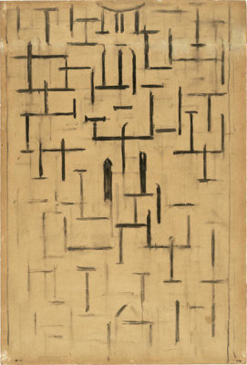 Piet Mondrian - Church Façade 5, 1914