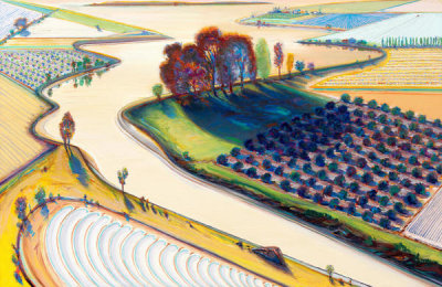 Wayne Thiebaud - Flatland River, 1997