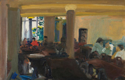 Adelie Landis Bischoff - Coffee Shop (International House, Berkeley, California), 1964