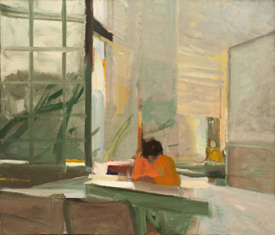 Elmer Bischoff - Orange Sweater, 1955